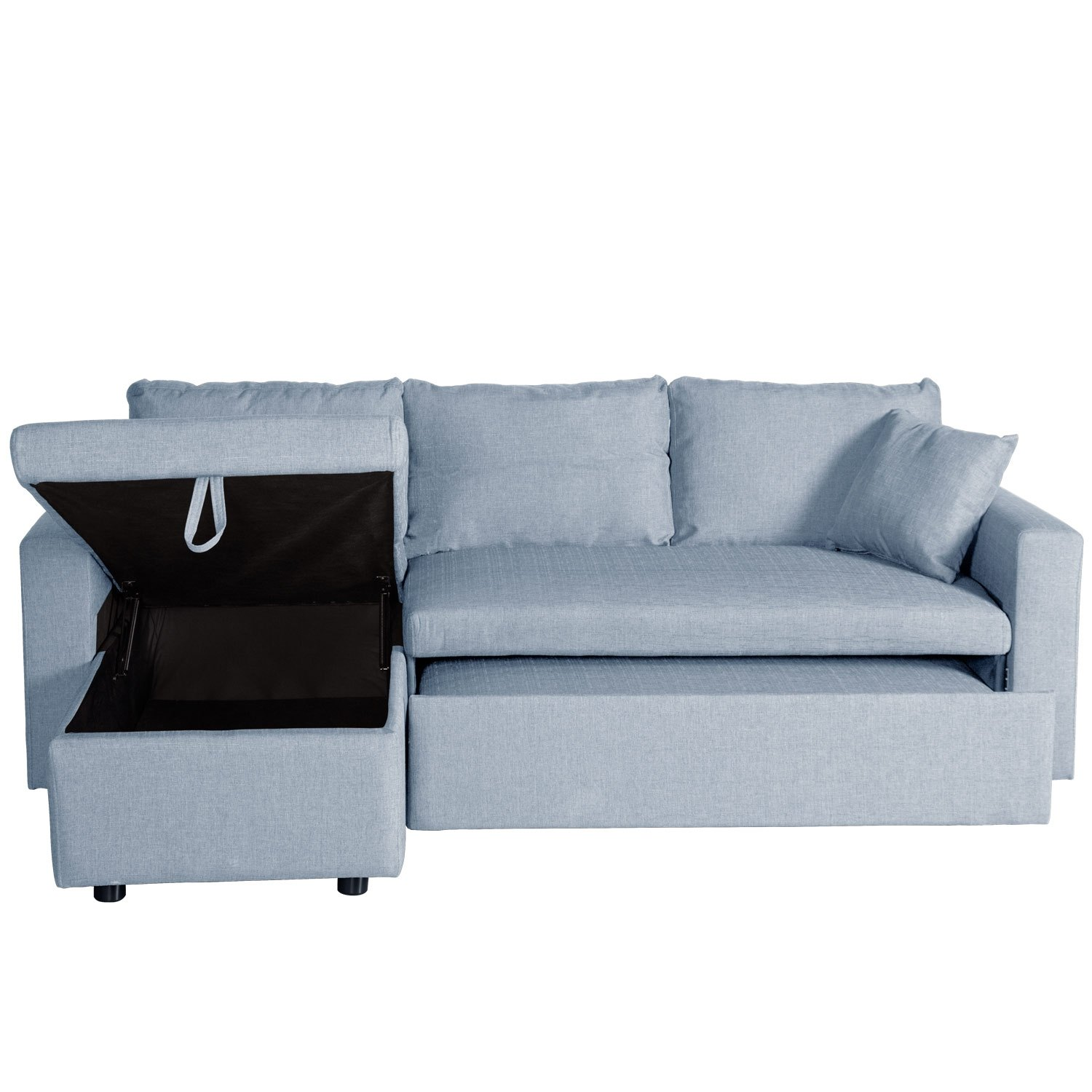 Compra online sof cama chaise longue adara barato for Sofa cama chaise longue