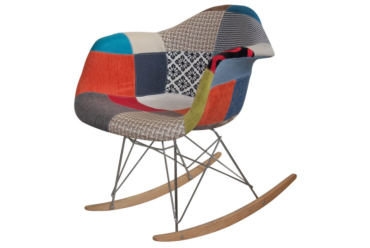 SEDIA A DONDOLO TOWER WOOD PATCHWORK