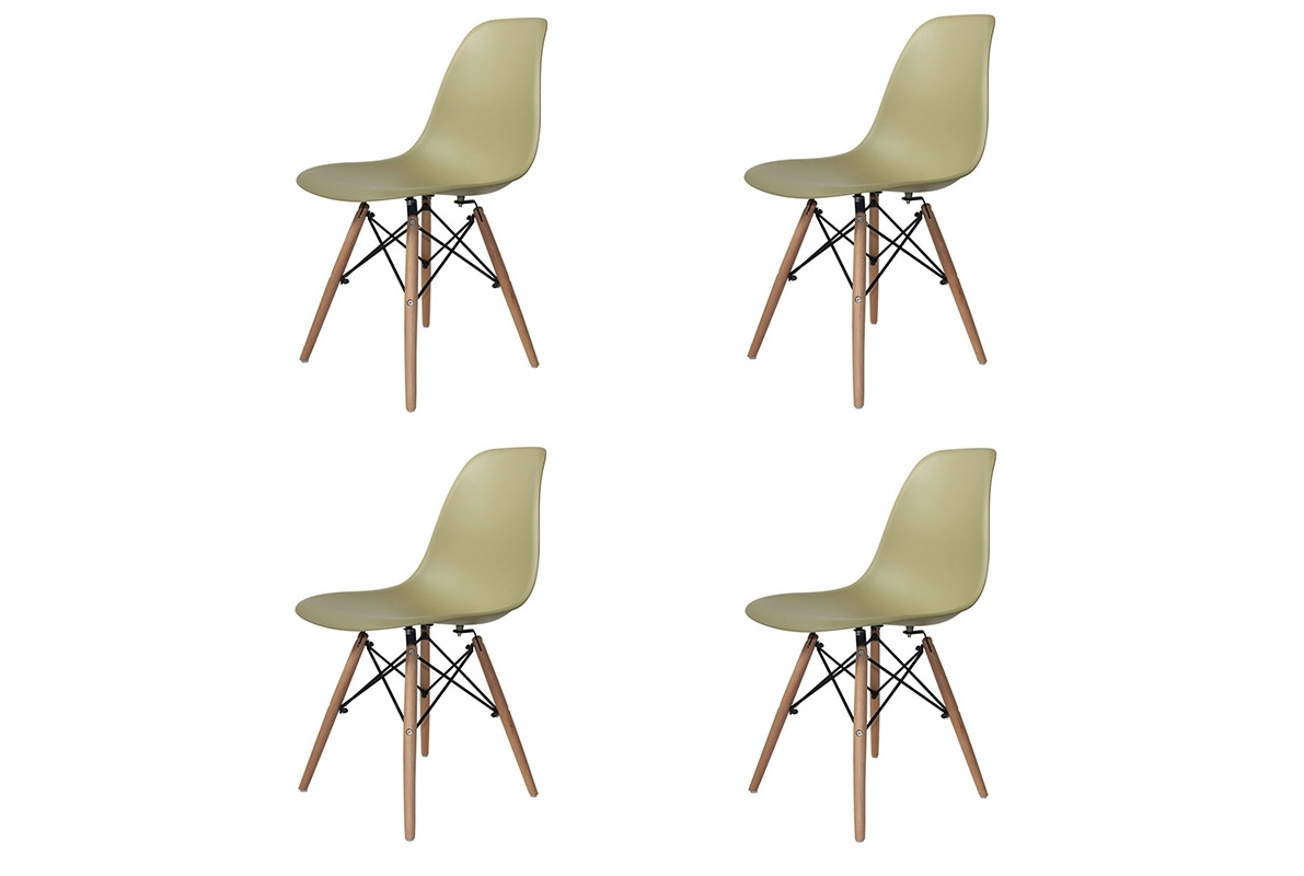 PACK 4 SILLAS TOWER WOOD COLORES EXTRA QUALITY