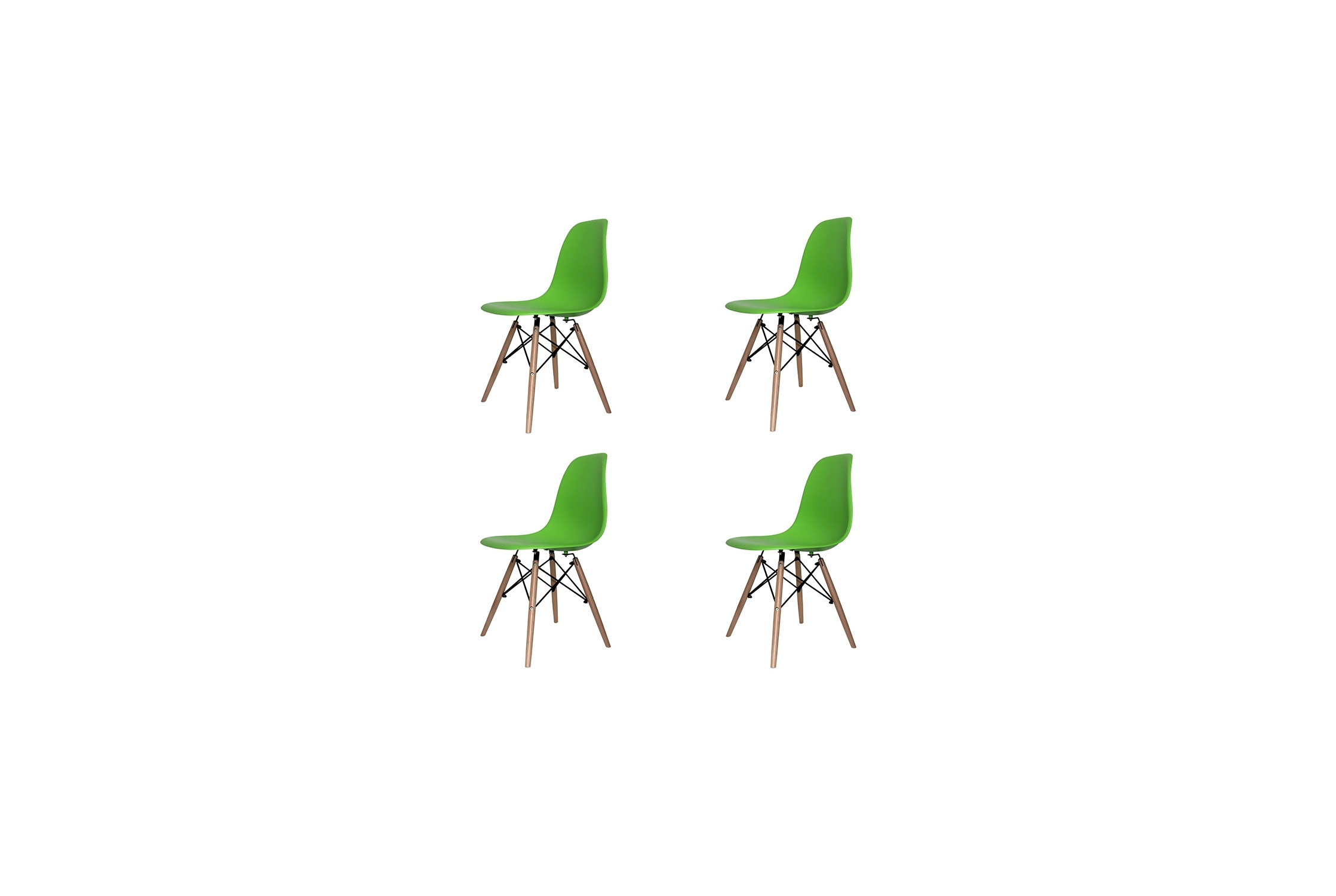 PACK 4 CHAISES TOWER WOOD VERTES EXTRA QUALITY