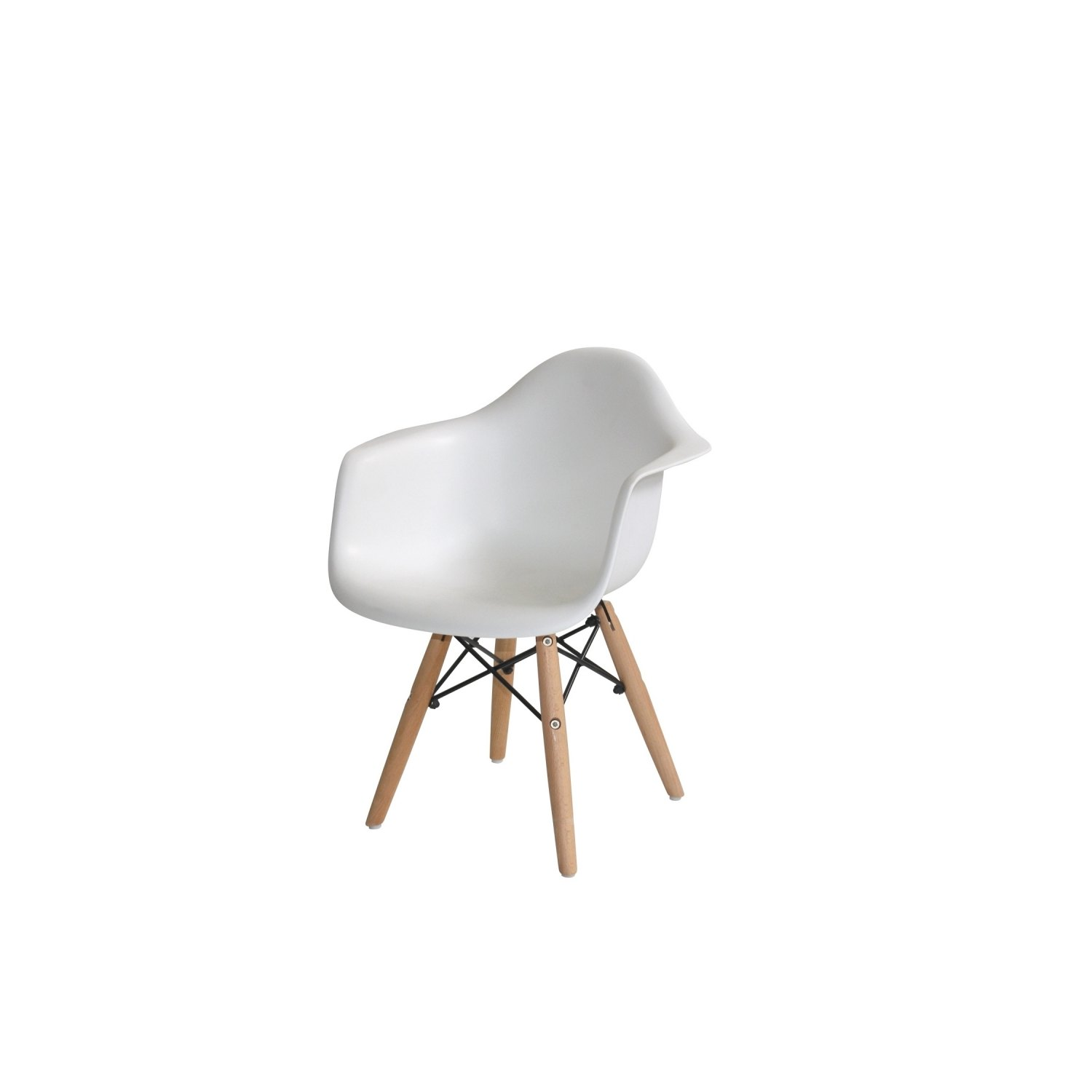 Pack table et 2 chaises baby tower wood blanches for Table et chaise blanche