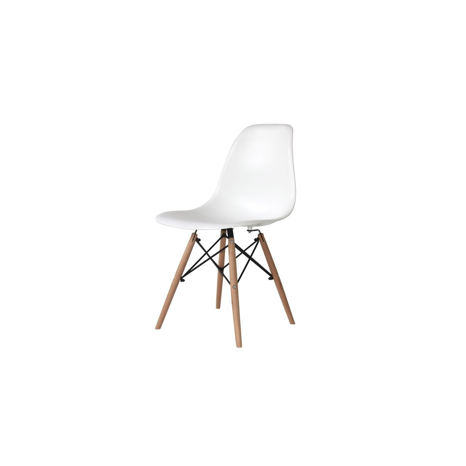 Pack mesa beech y 4 sillas tower wood blancas for Sillas de escritorio blancas