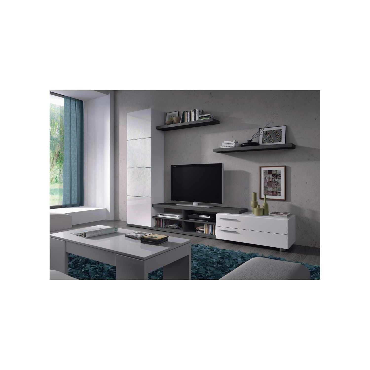 Offerta mobili per il salone online set mobili salone tv for Muebles de cocina 60 cm