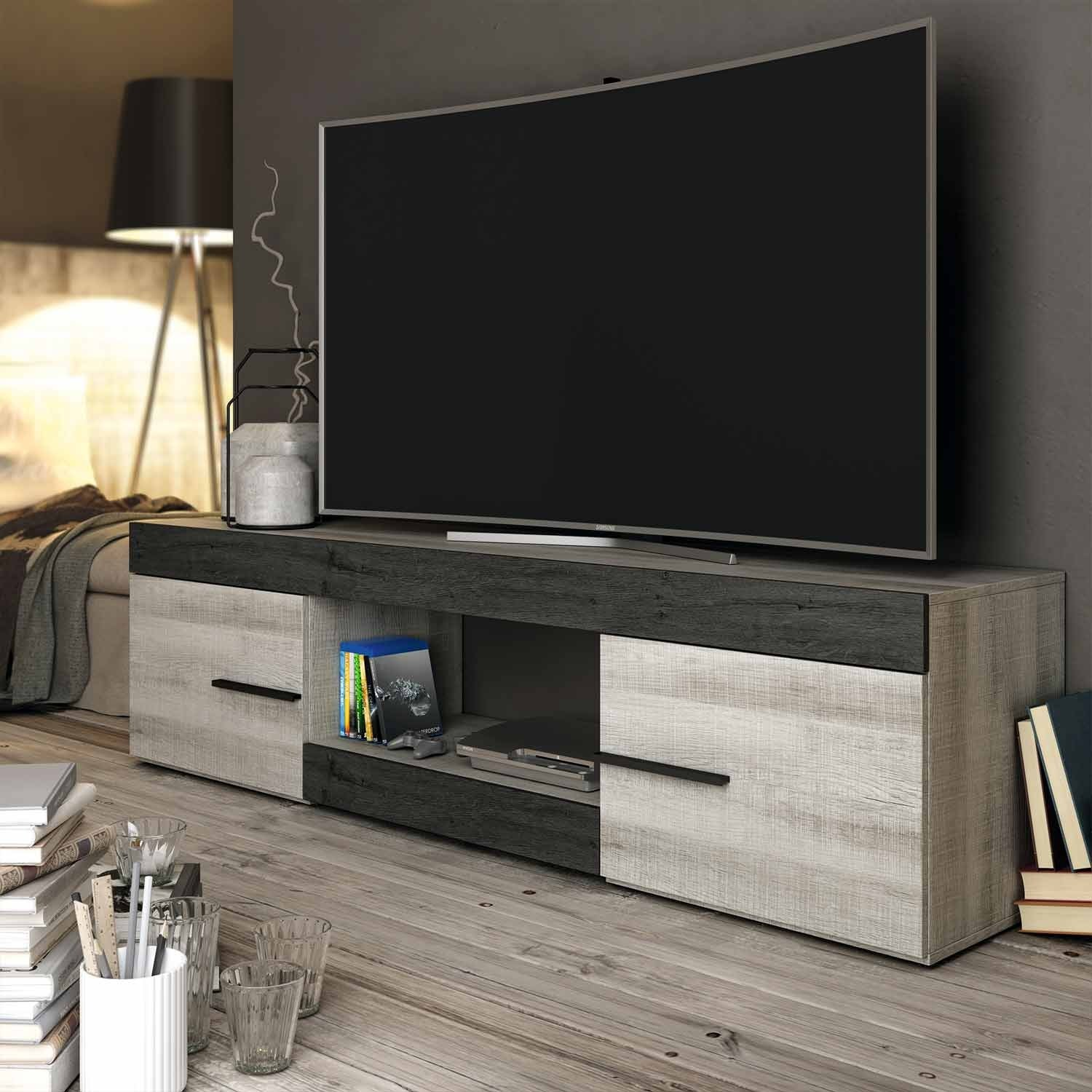 Mueble de tv 180 cm baikal for Mueble salon 180 cm