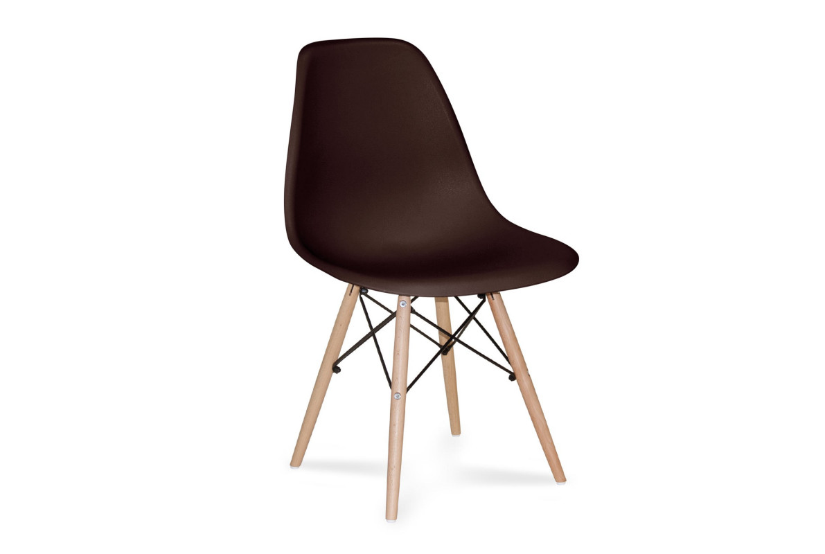 CHAISE TOWER WOOD CHOCOLAT EXTRA QUALITY Couleur-Chocolat - Hêtre